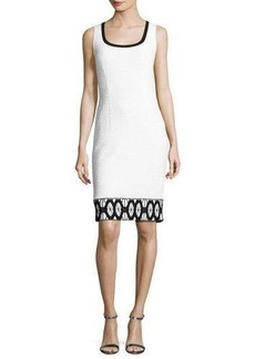 St. John Collection Sara Sleeveless Lace-Trim Sheath Dress
