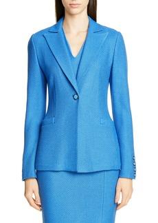 St. John Collection Sarga Knit Twill Jacket
