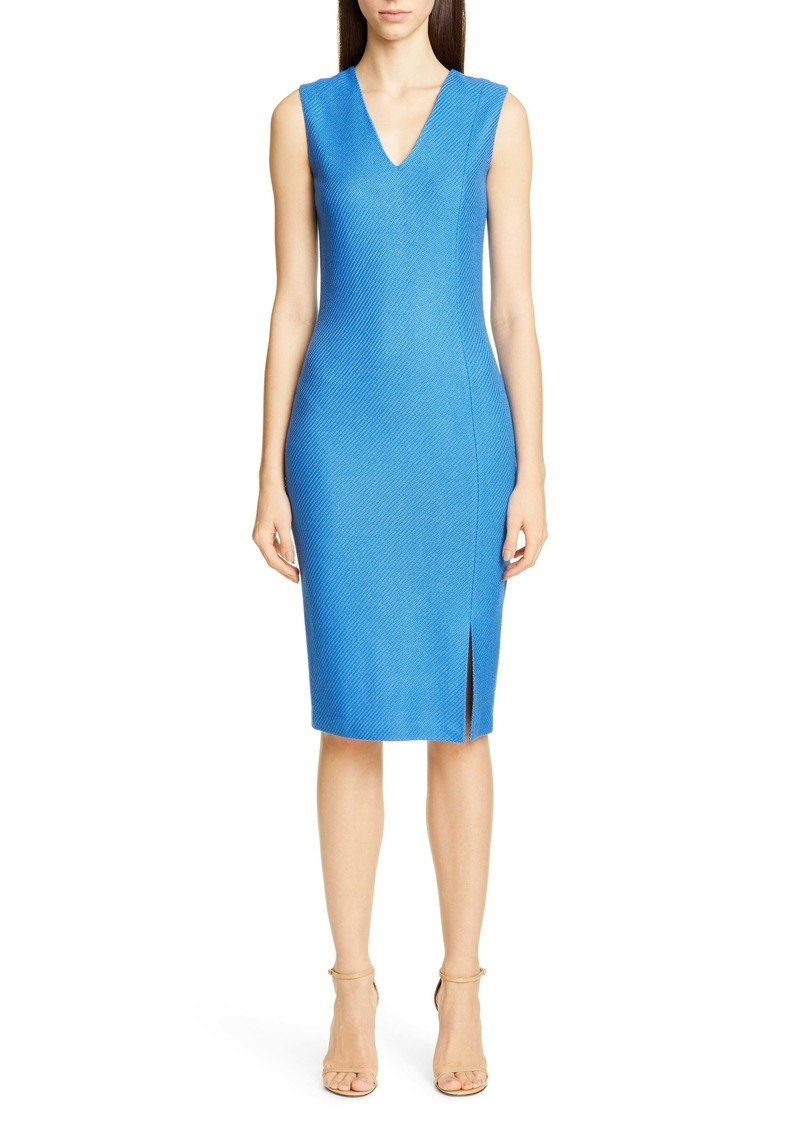 St. John Collection Sarga Knit Twill Sheath Dress