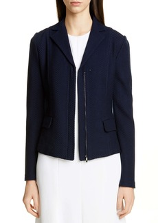 St. John Collection Sarga Knit Twill Zip Front Jacket
