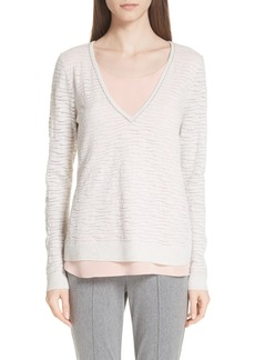 St. John Collection Scarlett Stripe Knit Sweater