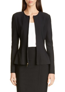 St. John Collection Sculpted Milano Knit Jacket