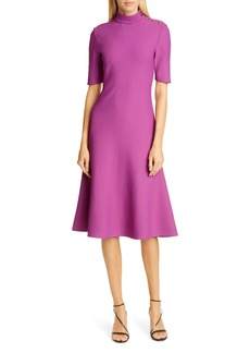 St. John Collection Sculpted Milano Knit Knee Length Dress