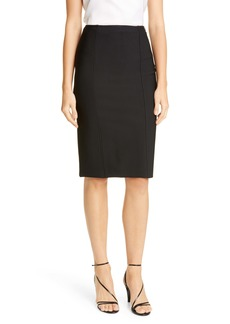 St. John Collection Sculpted Milano Knit Pencil Skirt