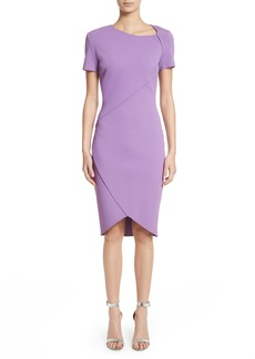 St. John Collection Sculpture Knit Asymmetrical Dress
