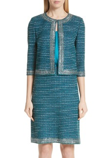 St. John Collection Sequin & Sheen Tweed Knit Jacket
