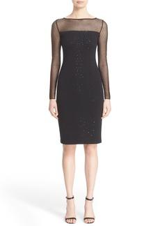 St. John Collection Sequin Embellished Shimmer Milano Knit Dress
