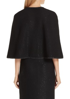 St. John Collection Sequin Knit Cape