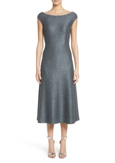 St. John Collection Sequin Knit Midi Dress