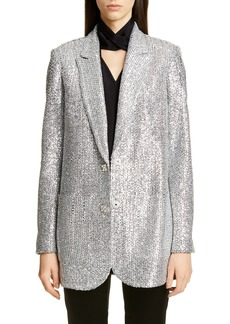 St. John Collection Sequin Knit Statement Jacket