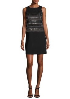 St. John Collection Sequined Milano Knit Shift Dress