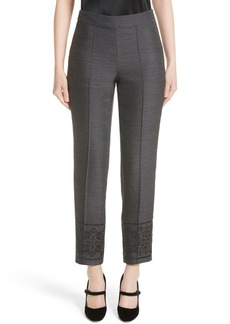 St. John Collection Shavari Jacquard Crop Pants