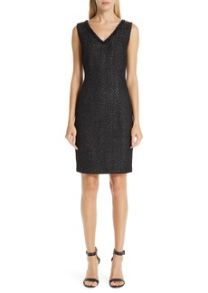St. John Collection Shimmer Inlay Brocade Knit Dress