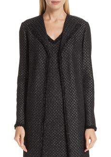 St. John Collection Shimmer Inlay Brocade Knit Jacket