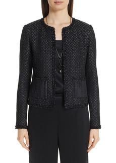 St. John Collection Shimmer Inlay Brocade Knit Jacket