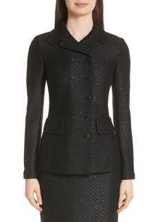St. John Collection Shimmer Sequin Knit Jacket