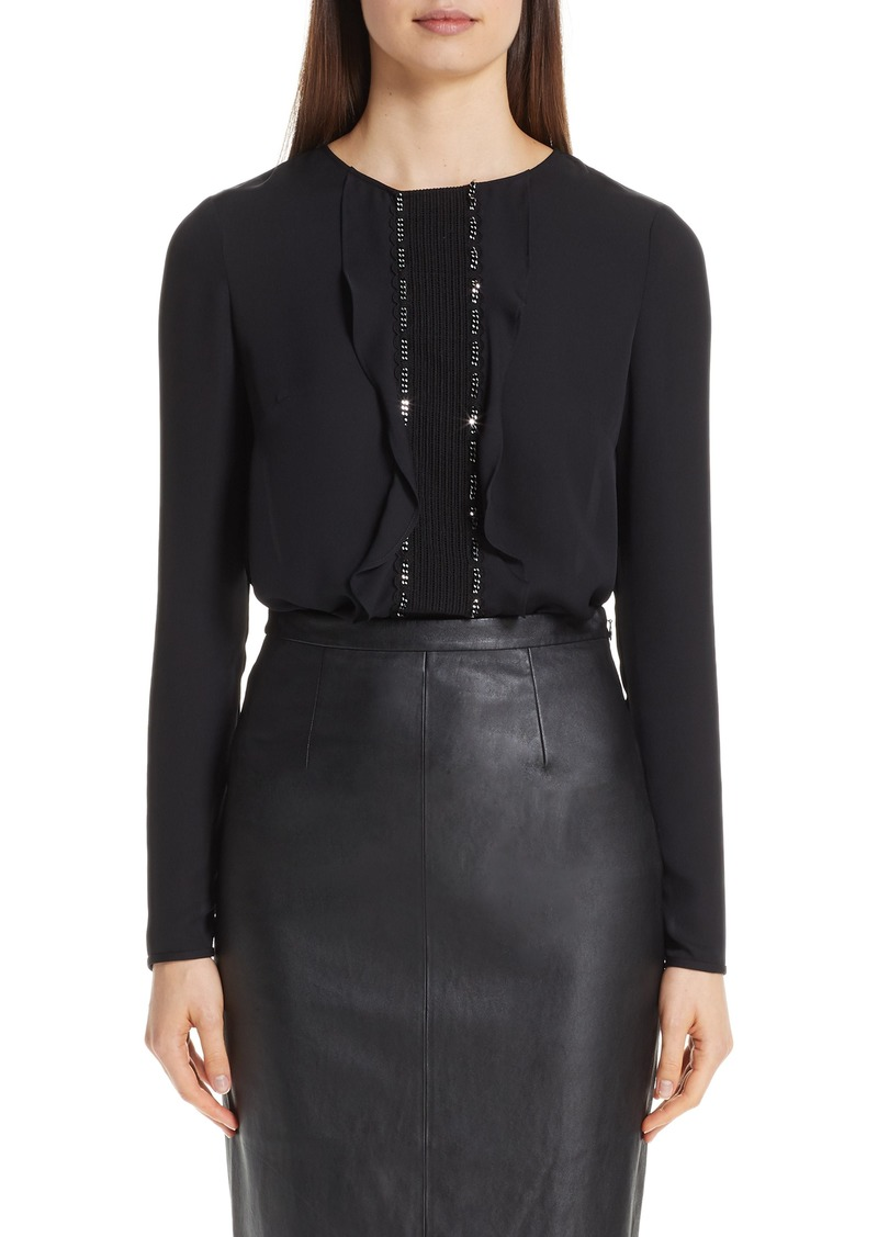 St. John Collection Silk Double Georgette Blouse