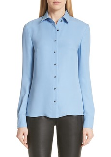 St. John Collection Silk Georgette Shirt
