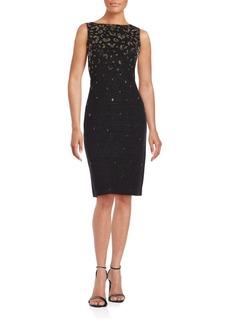 St. John Sleeveless Embellished Dress