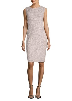 St. John Sleeveless Knit Sheath Dress