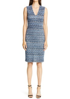 St. John Collection Space Dye Knit Sheath Dress