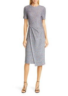 St. John St John Collection Space Dyed Ribbon Tweed Sheath Dress