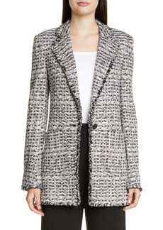 St. John Collection Space Dyed Tweed Knit Jacket