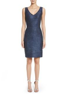 St. John Collection Sparkle Knit Sheath Dress