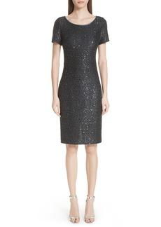 St. John Collection Sparkle Sequin Knit Dress