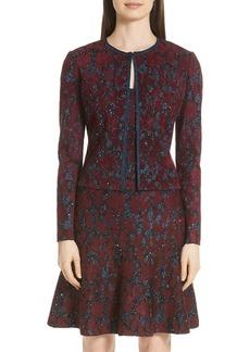 St. John Collection Sparkle Velvet Jacquard Jacket