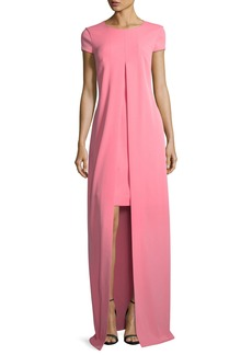 St. John Split-Front Stretch-Crepe Gown