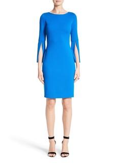 St. John Collection Split Sleeve Milano Knit Dress