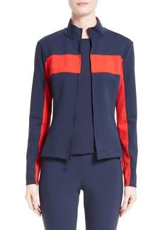 St. John Collection Sport Scuba Colorblock Jacket