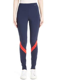 St. John Collection Sport Scuba Stripe Leggings