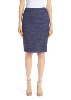 St. John Collection Starlight Knit Pencil Skirt