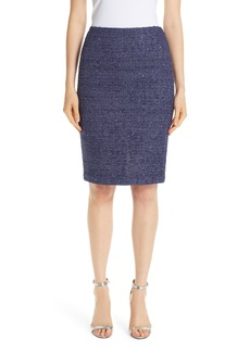 St. John Collection Starlight Knit Pencil Skirt