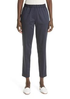 St. John Collection Straight Leg Cotton Sateen Ankle Pants