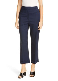 St. John Collection Straight Leg Stretch Tropical Wool Crop Pants
