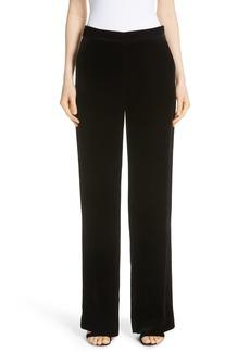 St. John Collection Straight Leg Velvet Pants