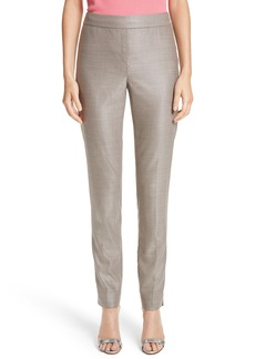 St. John Collection Stretch Birdseye Skinny Ankle Pants