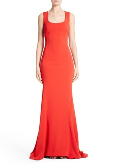 St. John Collection Stretch Cady Cross Back Gown
