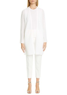 St. John Collection Stretch Canvas Tapered Crop Pants
