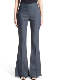 St. John Collection Stretch Denim Flare Pants