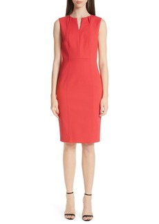 St. John Collection Stretch Double Weave Dress