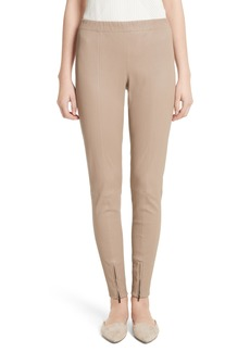 St. John Collection Stretch Leather Pants