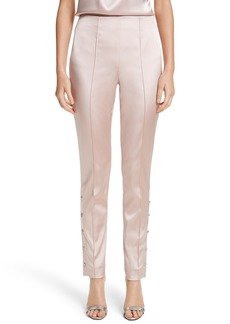 St. John Collection Stretch Satin Ankle Pants