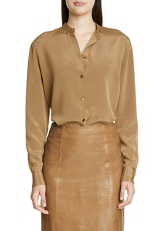 St. John Collection Stretch Silk Crepe Blouse