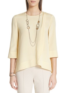 St. John Collection Stretch Silk Crêpe de Chine Blouse