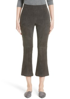 St. John Collection Stretch Suede Capri Pants