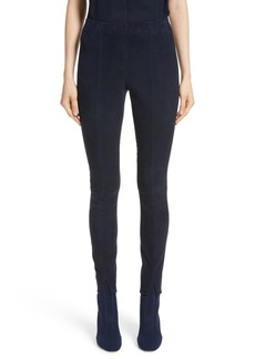 St. John Collection Stretch Suede Crop Leggings